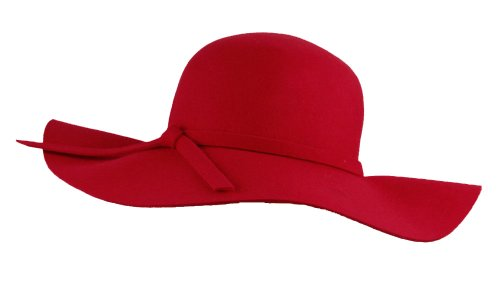 071afa1d7c18 Big Beautiful Ribbon Band Red Solid Color Wool Foldable Floppy Hat - Buy  Online in Oman. | Apparel Products in Oman - See Prices, Reviews and Free  Delivery ...
