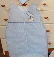 Saco de dormir/Grobag 0 – 6 M bordado cosidas con oso de peluche y
