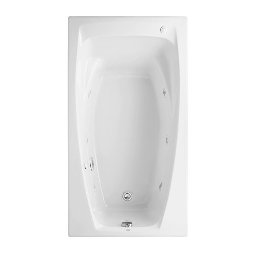 American Standard 2675.018.020 Colony 5-Feet by 32-Inch Whirlpool with Hydro Massage System-I, White - 2675018.020 ()