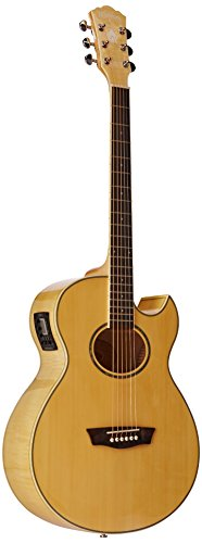 Wahsburn Festival Series EA20 Acoustic Guitar (Washburn White Guitar)