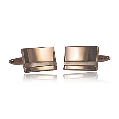 Mother of Pearl Rose Gold Cufflinks By Jewelry Mountain