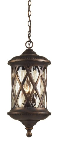 Artistic Lighting 42033/3 3-Light Outdoor Pendant In Hazelnut Bronze and Designer Water - Gate West Outlet