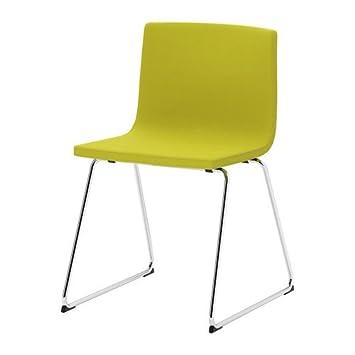 IKEA BERNHARD -Lehrstuhl verchromt Kavat grün-gelb: Amazon.de ...