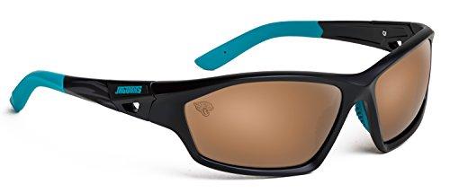 Officially Licensed NFL Sunglasses, Jacksonville Jaguars, 3D Logo on Temple - 100% UVA, UVB & UVC - Eye Glass Jacksonville