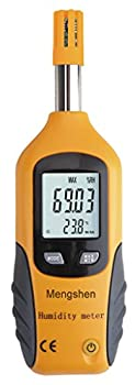 Mengshen® LCD Digital Psychrometer Mini Temperature and Humidity Meter with Dew Point and Wet Bulb Temperature Hygrometer MS-M86
