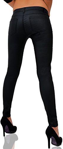 Mujer Piel Sintética Pantalón Skinny nº 216(Tubo) negro