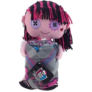 Monster High Draculaura Plush Pillow Doll Hugger and Throw Blanket by Mattel