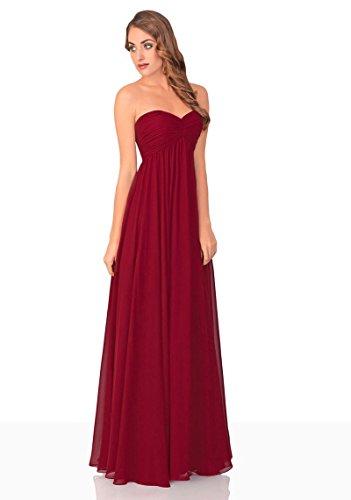 VIP Dress Langes Abendkleid / Ballkleid Chiffon / Abschlusskleid in Bordeaux , Größe 36