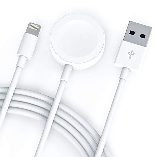 Compatible with Apple Watch iWatch Charger, 2 in 1 Wireless Charger Cable for Apple Watch Series 4/3/2/1 and iPhone XR/XS/XS Max/X/8/8Plus/7/7Plus/6/6Plus (Best Iphone 4 Charger Cable)