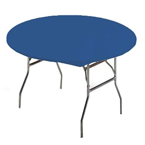 Creative Converting Round Stay Put Plastic Table Cover, 60-Inch, Royal Blue, 12 Packs by Creative Converting