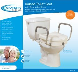 Roscoe Medical - Viverity Locking Raised Toilet Seat With Arms
