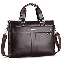Men's leather shoulder bag Messenger bag leisure bag business bag document bag.(TMS/BROWN/6199)