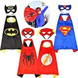 Asgift Comics Cartoon Hero Cape and Mask Costumes Set for Kids Dress Up Party ()
