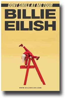 Póster de Billie Eilish, concierto de promoción, 27,9 x 43,2 cm, con escalera roja: Amazon.es: Hogar