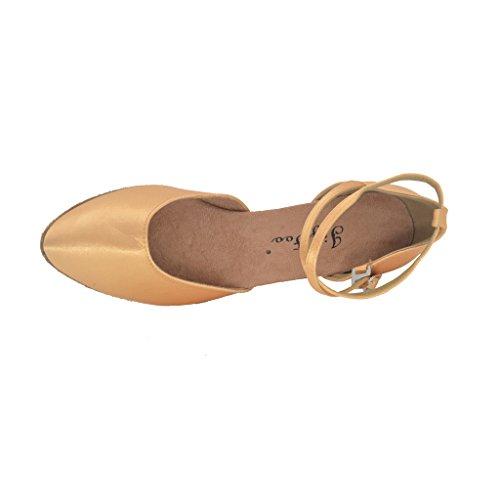 Jig Foo Womens Pumps Dance Shoes Tan AVv5gw1QA