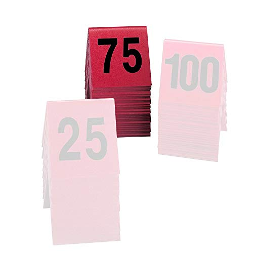 Cal-Mil 226-2 Tabletop Number Tents - #51-75, 3