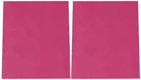 Artibetter 2枚の熱転写フィルムPVCホット印刷フィルムDIY Tシャツ布バッグ用品バラ色