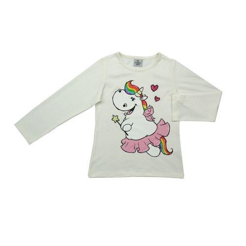 Pummeleinhorn Mädchen Pullover - Pummelfee mit Herzchen (weiß) 87000 012