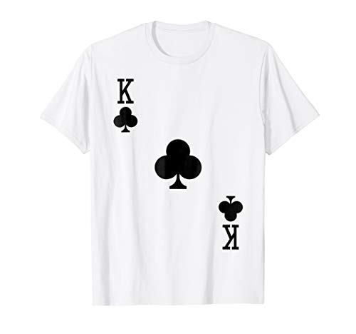 Mens King of Clubs Costume T-Shirt Halloween Deck