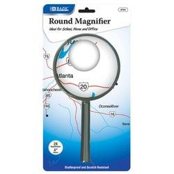 DDI - BAZIC 4'' Round 2x Handheld Magnifier (1 pack of 24 items)