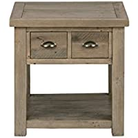 Jofran: 940-3, Slater Mill, Square End Table, 24'W X 24'D X 24'H, Medium Brown Pine Finish, (Set of 1)