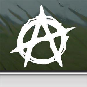 Christian Anarchy Symbol White Sticker Laptop Vinyl Window White Decal