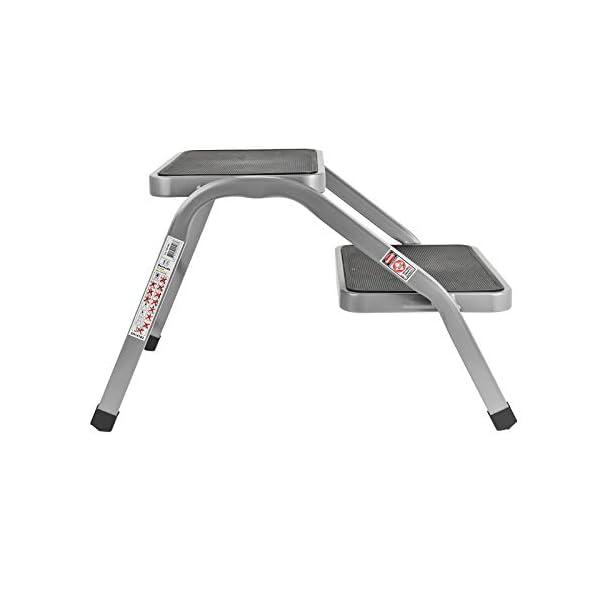31BAsefWb3L HABA Doppeltrittstufe | 634x381x380mm | gummiert | 4kg | geprüft bis 150 kg | Grau (Tritt)