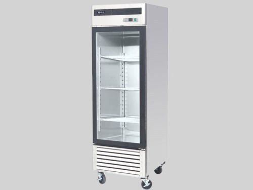 Stainless Steel Single 1 Door Glass Freezer Merchandiser Display Case by Restaurant Supplies Direct