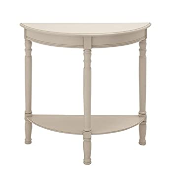Deco 79 96328 Wood 1/2 Round Console Table, 32u0026quot; X 32u0026quot;