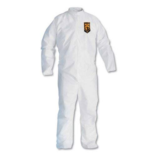 A30 Breathable Splash/particle Protection Coveralls, White, 4x-Large, 21/carton