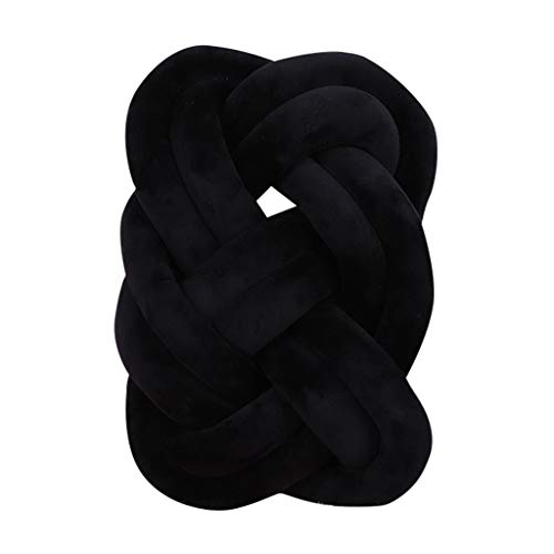 Vcenty Mat Baby Braided Crib Bumper Cushion Pillows for Baby Boys Girls,Toddler Infant Baby Colorful Soft Knot Pillow Braided Crib Bumper Decorative ()