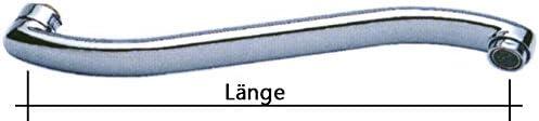 3//4 Anschluss 200 mm S S-Auslauf Auslauf f/ür Wand-Armaturen chrom
