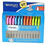Westcott School Pack Kids Soft Handle Scissors with Anti-microbial Protection, 12/Pack, Assorted, 5'' Blunt, Case of 3