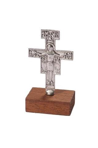 Franciscan Crucifix - Standing Metal San Damiano Cross 3