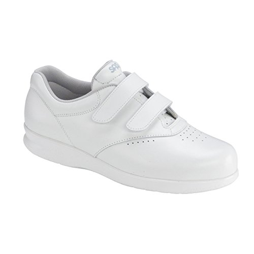 SAS Women's Me Too Klettverschluss Leder Walking Comfort Schuhe Weiß