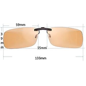 US Patent-Melanin! Viscare Computer Gamer Glasses Clip On, Blue Light Filter UV Blocking Digital Eye Strain Relief Anti-glare Radiaton Protection