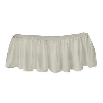 Red 009243405641 bkb Solid Ruffled Crib Skirt