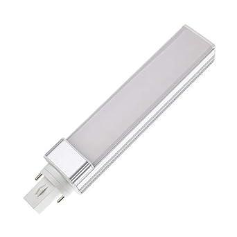 Bombilla LED G24 Frost 12W Blanco Frío 6000K-6500K efectoLED: Amazon.es: Iluminación