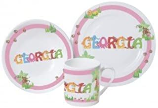 Baby Girls pink First Breakfast set Cup Dish u0026 Plate personalised with the  sc 1 st  Amazon UK & Childrenu0027s Space Breakfast Set Personalised Plate Bowl Mug Gift ...