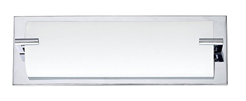 Kendal Lighting VF2500WH-3L-CH Paramount 3-Light Vanity Fixture, Chrome Finish and White Curved (3l Bath Sconce)