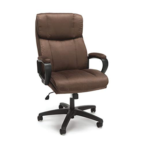 Essentials Executive Chair – Mid Back Office Computer Chair (ESS-3082-BRN) (Renewed)