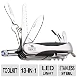 Journey's Edge Swiss Everything 13 Function Pocket Tool With Led Flashlight Multi Knife, Outdoor Stuffs