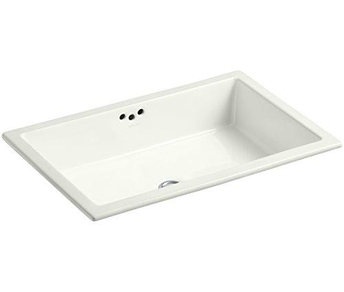 KOHLER K-2297-NY Kathryn Undercounter Bathroom Sink Without Glazed Underside, Dune