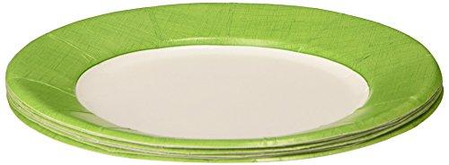 Caspari Entertaining Linen Salad/Dessert Plates, Moss Green, 8-Pack