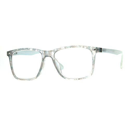 Womens Flower Print Thin Plastic Clear Lens Strength Reading Glasses Pearl 2.0