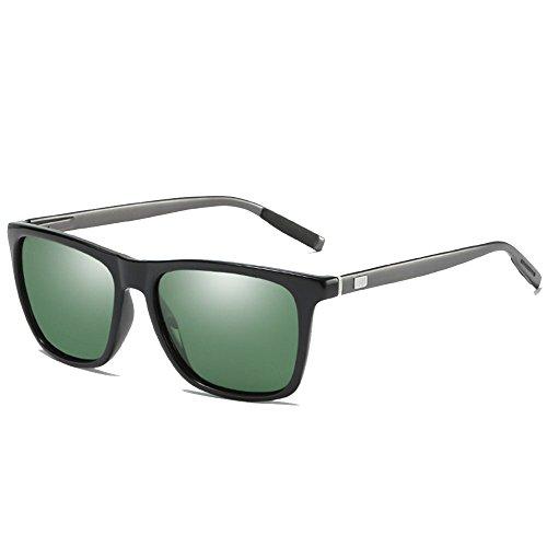 en pour de soleil des Lunettes hommes green de mode mode polarisées femmes colorées de vintage unisexes aluminium 7t7T0x5w