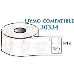12 Rolls Dymo 30334 Compatible 2-1/4 x 1-1/4 Multi-Purpose Labels