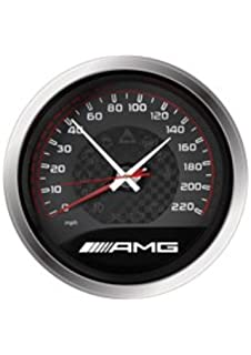 Amazon mercedes benz illuminated light up wall clock home genuine mercedes benz 14 amg speedometer wall clock aloadofball Image collections