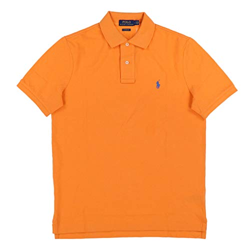 Polo Ralph Lauren Mens Classic Mesh Polo Shirt (M, Navel Orange)