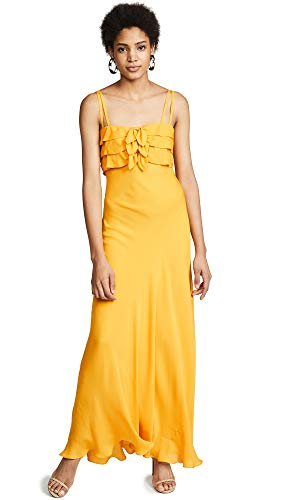 HANEY Women's Lou Dress, Marigold, Yellow, 4